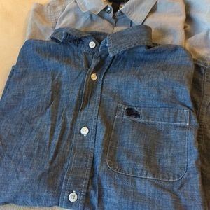 2 boys large button down shirts old navy